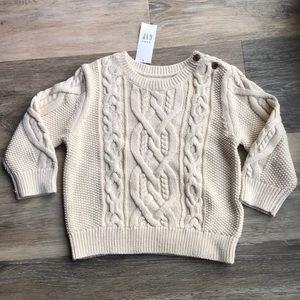 NWT 18-24 Month Baby Gap Cream Sweater